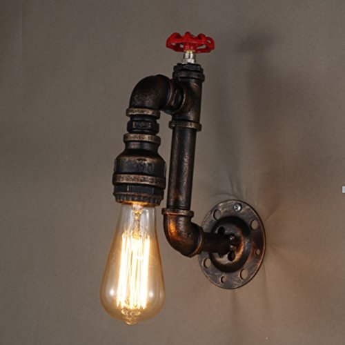 Sanyi Vintage Water Pipe Wall Light Fixture Industrial Brass Light Wall Sconce Edison Lamp Retro ...