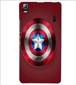 PrintDhaba Captain America Shield D-3328 Back Case Cover for LENOVO K3 NOTE (Multi-Coloured)