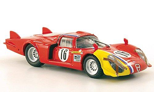 Alfa Romeo 33.2 Lunga, No,16, T.Pilett, Spa, 1968, Ready Model, Scale: 1:43, Best