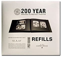 John Porter 12x12 Black Refill Pages (10 Pages)