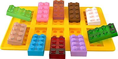 iCooker® Candy Molds & Silicone Ice Cube Tray - Lego Building Blocks, Jello and Toy Figures - Chocolate & Strawberry Candy Bar Mold Shapes for Baby Shower, Christmas, Wedding - Best Soft Tray Set for Children, Parties and Kids
