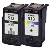 InkUnity - Canon PG - 512 & CL - 513 Compatible Ink Cartridges for Pixma MP252 MP499 MP490