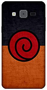 The Racoon Grip Uzumaki Crest hard plastic printed back case / cover for Samsung Galaxy On5