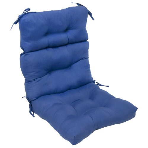 Greendale Home Fashions Indoor/Outdoor High Back Chair Cushion, Marine Blue