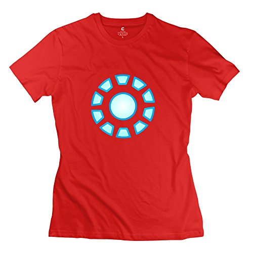 ZZY Funny Iron Man Reactor Arc T-shirt - Women's T-shirts Red