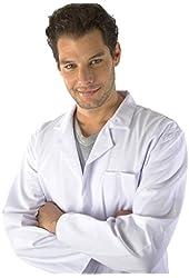 Dr. James Unisex White Polycotton Lab Coat