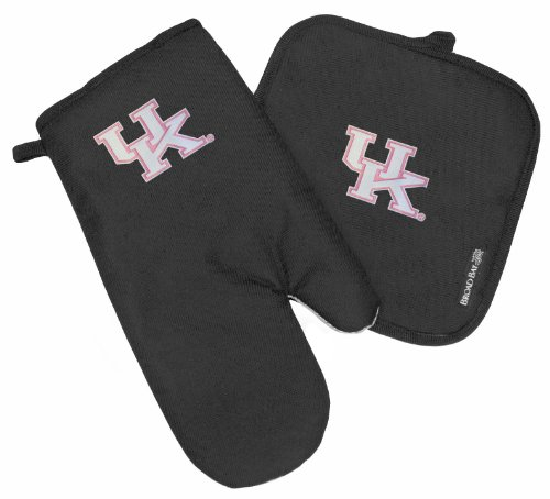 Kentucky Wildcats Mitt Potholder Set Ladies University Of Kentucky Kitchen Tailgating Or Barbecue Pot Holder College Ncaa Licensed