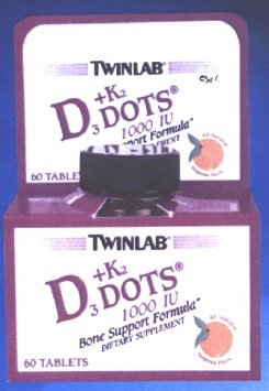 Twinlab, Vitamin D3 1000 & K2 Dots, 60 Ct  (Twinlab Vitamin D compare prices)