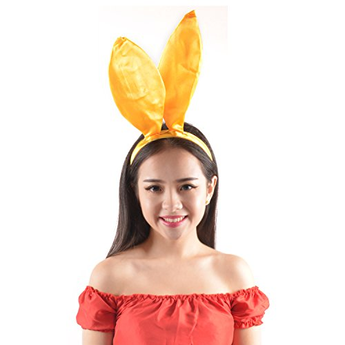 Yellow Bunny Ears Easter Headband