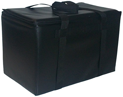TCB Insulated Bags DST-1-Black Insulated Catering Bag for Steam Table Pans, Holds 3 4