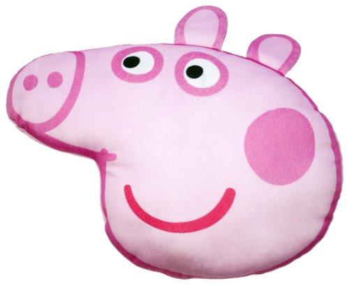 Character World Peppa Pig Head Printed Plush Cushion