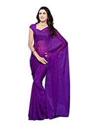 Sanskar Fashion Purple Chiffon Saree