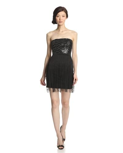Minuet Women's Sequined Dress with Fringe