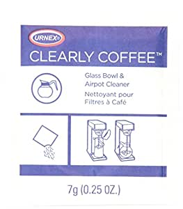 Urnex Clearly Coffee Powder, 125 - 1/4 oz packets