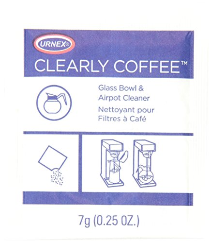 Urnex Clearly Coffee 125 1/4-Ounce packets Cleaning Powder
