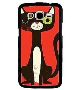 Printvisa Animated Black Cat Back Case Cover for Samsung Galaxy J5::Samsung Galaxy J5 J500F