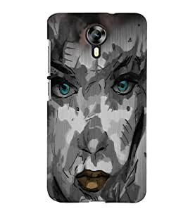 Fuson Night Haunted Girl Face Back Case Cover for MICROMAX CANVAS XPRESS 2 E313 - D4116