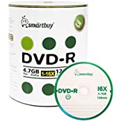 Smart Buy 100 Pack DVD-R 4.7gb 16x Logo Blank Data Video Movie Recordable Disc 100 Disc 100pk