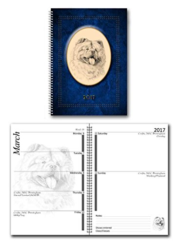 chow-chow-2017-dog-show-diary-grande-a5-8-por-6-disponible-en-7-colores-color-azul-a5-6-by-8