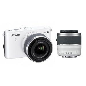 Nikon 1 J3 Kit blanc + 10-30mm + 30-110mm