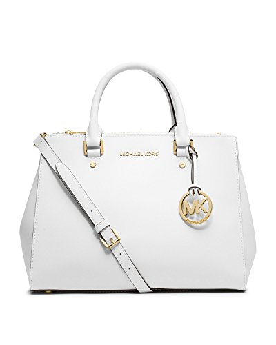Michael Michael Kors Jet Set Travel Medium Dressy Tote In Optic White