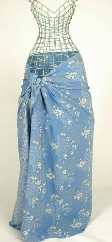 Blue Roses Hand Made Batik Sarong