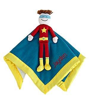 Personalized Security Blanket - Superhero - Brunette