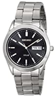 Seiko Men's SNE039 Solar Black Dial Watch by Seiko