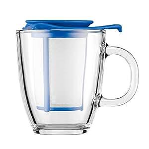 Bodum UK 0.35 Litre/ 12 oz Yo Yo Set Mug and Tea Strainer, Blue