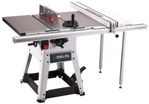 Delta 36 982 10 inch left tilt 1 1 2 horsepower contractor for 10 inch delta table saw