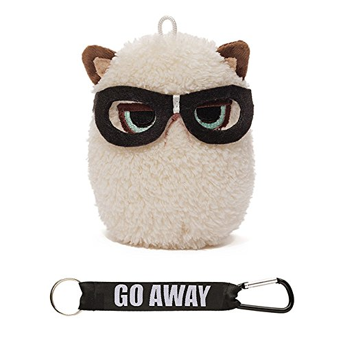 "Gund Grumpy Cat Mini Plush with Glasses, 4"" - 1"