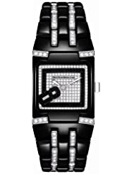 TechnoMarine Women's 308002 BlackSnow Mini Diamond Watch