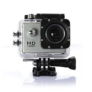 SJ4000 (1080P 1.5 Inch 12MP 170°A+ HD Wide-angle Micro USB 2.0,Micro HDMI)Full HD Head Sports Outdoor Car Recorder Car Recorder DVR Cam Action Camera (Silver)