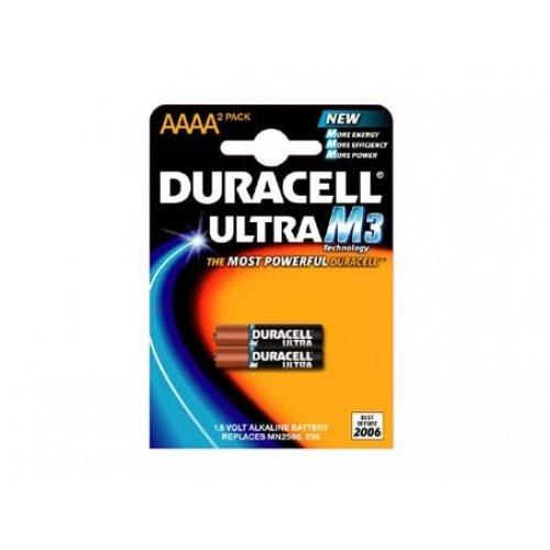 Batterie Duracell Ultra type/réf. AAAA (2 unités sous blister), 1,5V, Alkaline [ Piles ]