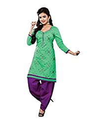 RK Fashion Womens Cotton Un-Stitched Salwar Suit Dupatta Material ( YOGESH-YCM-MUSKAN-1019-Green-Free Size)