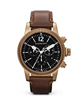 Burberry Watch, Swiss Chronograph Brown Leather Strap 42mm BU7814