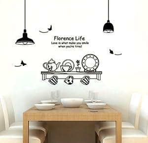 Adesivo per decorazione pareti 60x90 cm mensola cucina casa e cucina for Decorazioni pareti cucina