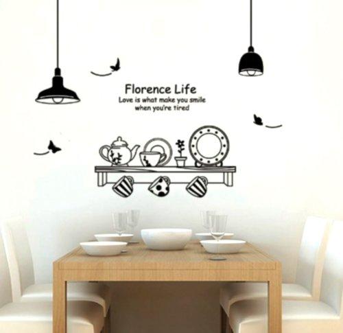 Adesivo per decorazione pareti 60x90 cm mensola cucina - Decorazioni pareti cucina ...