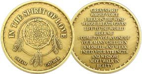 In The Spirit of Love - Bronze AA (Alcoholics Anonymous) -ACA-AL-ANON - Sober / Sobriety / Affirmation / Birthday / Anniversary / Desire / Recovery / Medallion / Coin / Chip