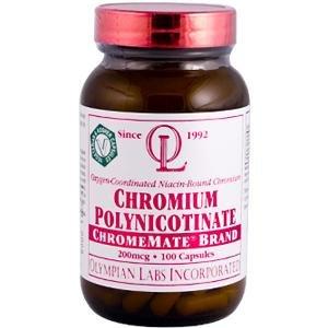 Chrome 200mcg 100 Polynicotinate comte