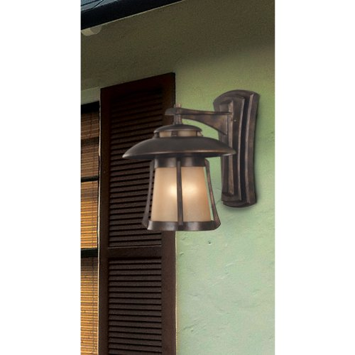 Kenroy Home 3195 Laguna Medium Wall Lantern, Golden Bronze