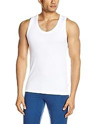 Lakomfort Men's Cotton Vest (Slender _Small_White)