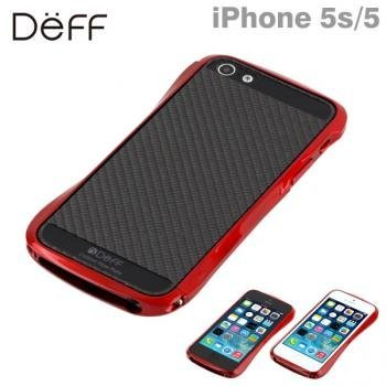 Deff Cleave Bumper Metallic & Carbon for iPhone5/5S Formula Red DCB-IP52CMRD/CB