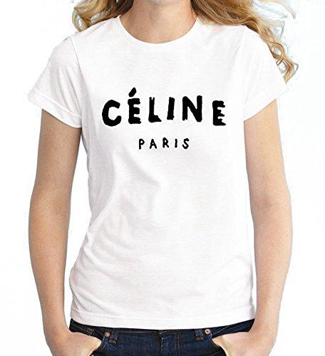 celine-paris-femmes-femmes-dahommes-manche-courte-blanc-t-shirt