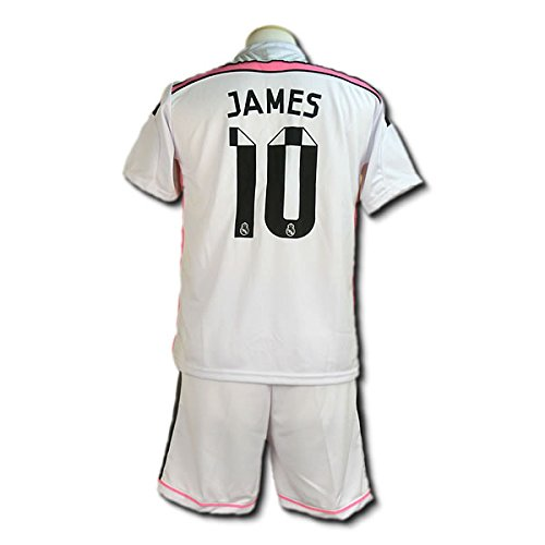 サッカーユニフォーム 【2015モデル】 レアルマドリード ホーム ハメス・ロドリゲス James 背番号10 レプリカサッカーユニフォーム 子供用 S