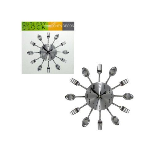 Bulk Buys Kitchen Cutlery Wall Clock (Set Of 2)