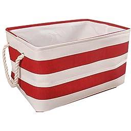 Clothes Basket Laundry Basket Clothing Storage Barrels Toy Organiger Red Stripe