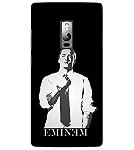 Evaluze eminem Printed Back Cover for ONE PLUS TWO