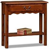 petite oak console table