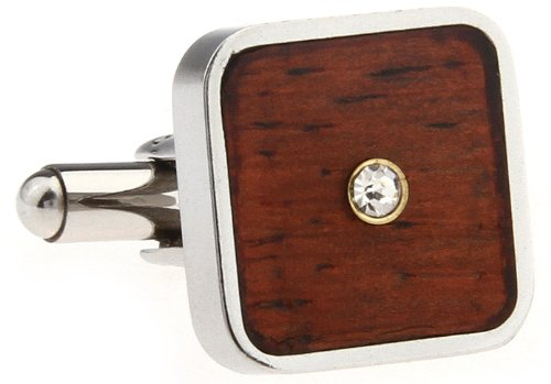 Red Wood Crystal Masonic Cufflink for Men Designer Cuff Links